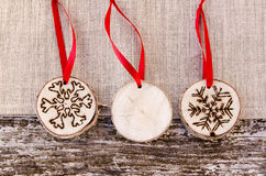 Hand-made christmas ornament decoration Royalty Free Stock Image