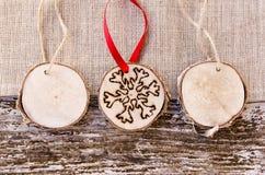 Hand-made christmas ornament decoration Stock Photos
