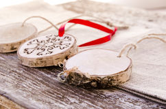 Hand-made christmas ornament decoration Stock Images