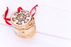 Hand-made christmas ornament decoration Royalty Free Stock Images