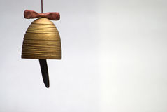 Hand made clay bell Stock Photos