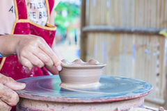 Hand made of clay pot Royalty Free Stock Image