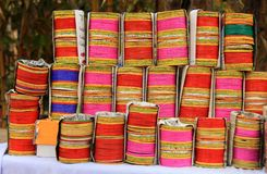 Hand made colorful lakh bangles/bracelets Stock Photo