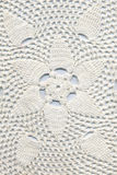 Hand made crocheted doily Stock Image