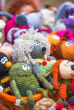 Hand made crocheted dolls Stock Images