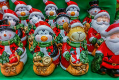 Hand made decorations at market for Christmas month Stock Photo