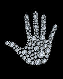 Hand made from diamonds. Stock Image