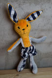 Hand made Doll and clothes toy Royalty Free Stock Photo