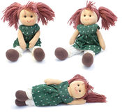 Hand made doll. collage Royalty Free Stock Photos
