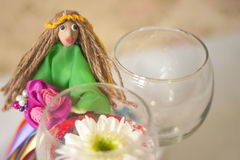 Hand made doll of summer Royalty Free Stock Image