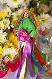 Hand made doll of summer Stock Image