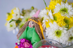 Hand made doll of summer Royalty Free Stock Photography