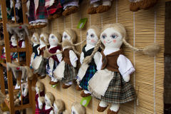 Hand made dolls at Kaziukas market Stock Photography
