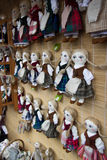 Hand made dolls at Kaziukas market Royalty Free Stock Photography