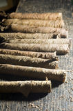 Hand made Domincan tobacco cigars Stock Images