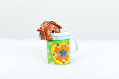 The hand-made eatable gingerbread house Royalty Free Stock Photos