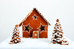 The hand-made eatable gingerbread house Stock Image