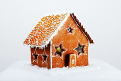 The hand-made eatable gingerbread house Royalty Free Stock Images
