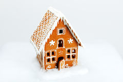 The hand-made eatable gingerbread house Stock Photography