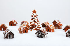 The hand-made eatable gingerbread houses Stock Image