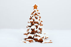 The hand-made eatable gingerbread New Year Tree Stock Images