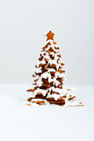 The hand-made eatable gingerbread New Year Tree Stock Photography
