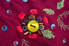 Hand-made embroidery Stock Photo