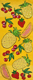 Hand Made Embroidery And Cross-Stitch Fruits Royalty Free Stock Photography