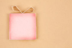 Hand made empty gift box Royalty Free Stock Photography
