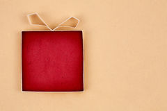 Hand made empty gift box Stock Photography