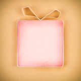 Hand made empty gift box Royalty Free Stock Images