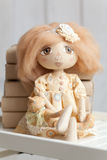 Hand made fabric doll Royalty Free Stock Images