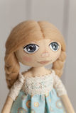 Hand made fabric doll Stock Image