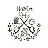 Hand Made Festival - Logo Design royalty free stock photos