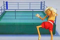 Hand made figure imitating thailand boxer muay thai Stock Images