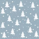 Hand made fir tree stars snow vector pattern.. Hand made fir tree stars snow vector pattern. Happy New Year and christmas holidays background card Royalty Free Stock Image