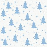 Hand made fir tree stars snow vector pattern.. Happy New Year and christmas holidays background card Stock Photos