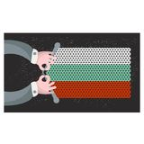 Hand made flag of Bulgaria. Stock Photography