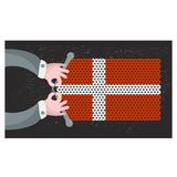 Hand made flag of Denmark. Stock Images