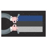 Hand made flag of Estonia. Stock Photo