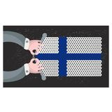 Hand made flag of Finland. Royalty Free Stock Images
