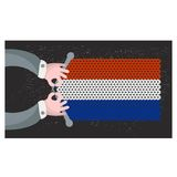 Hand made flag of Holland. Stock Image