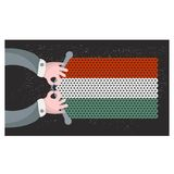Hand made flag of Hungary. Royalty Free Stock Image