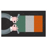 Hand made flag of Ireland. Stock Photos