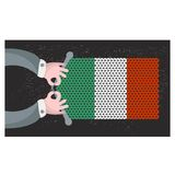 Hand made flag of Italy. Royalty Free Stock Image