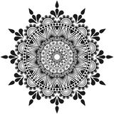 Hand made flowers mandala, indian and arabian ornament Royalty Free Stock Photography