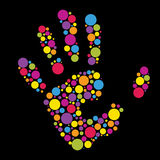Hand Made From Color Circles Royalty Free Stock Image