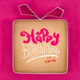 Hand made gift box, textured paper as background Royalty Free Stock Photos