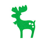 Hand made green christmas reindeer Royalty Free Stock Images
