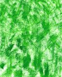 Hand made green texture with brushstrokes and stains of gouache or acrylic paint. Green fresh grass or forest leaf. Scratches on. Hand painted green texture royalty free illustration